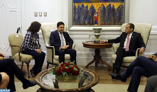 M. Bourita s'entretient à Saint-Domingue avec le président du Sénat dominicain