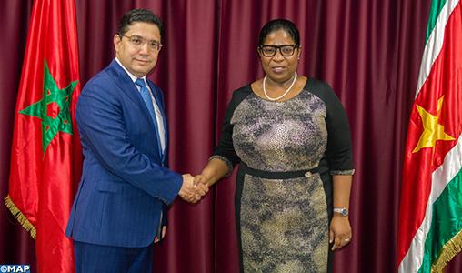 Sahara: Le Suriname réitère sa décision de retrait de la reconnaissance de la fantomatique RASD, exprime son soutien à une solution pacifique dans le cadre de la souveraineté et de l'intégrité territoriale du Royaume