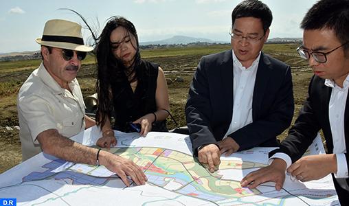 Une délégation chinoise visite le chantier de construction de la Cité Mohammed VI Tanger Tech