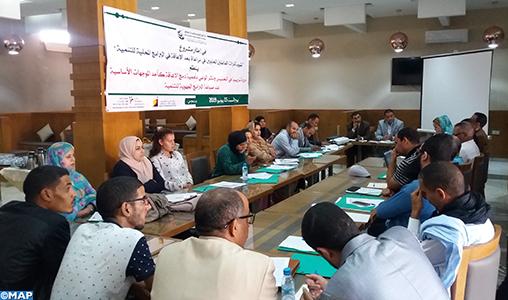 Formation à Laâyoune sur l'intégration de la dimension handicap dans les programmes régionaux de développement