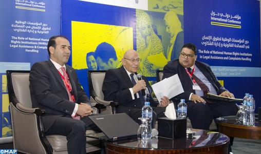 Le Maroc participe au Caire à un congrès sur le rôle des institutions nationales des droits de l'homme dans l'assistance judiciaire et les plaintes