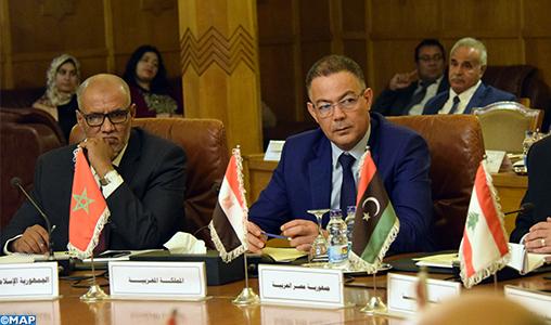 Réunion au Caire des ministres arabes des finances sur la mise en oeuvre d'un filet de sécurité financière pour l'autorité palestinienne, avec la participation du Maroc