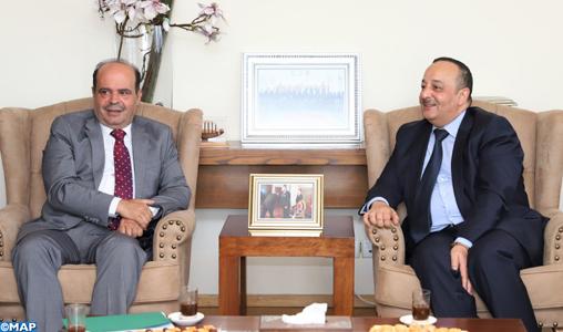 La coopération médiatique maroco-palestinienne au centre d'entretiens entre M. Laaraj et le porte-parole du gouvernement palestinien