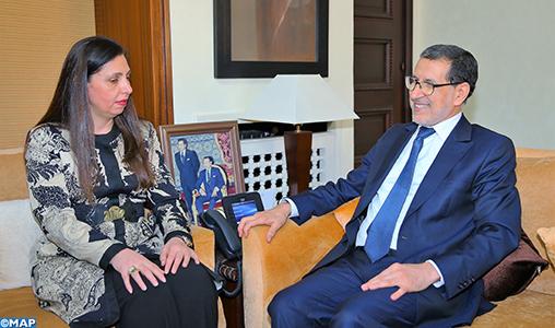 Le consolidation de la coopération au centre d'une rencontre entre M. El Otmani et la secrétaire exécutive de la CESAO
