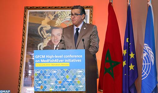 Marrakech : M. Akhannouch souligne la nécessité de promouvoir la conservation des ressources halieutiques pour assurer un développement durable des économies de la Méditerranée