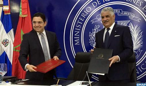 Saint-Domingue: le Maroc et la Républicaine dominicaine signent deux accords de coopération