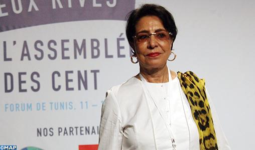 Mme Assia Bensalah Alaoui souligne à Tunis la convergence de vue entre le Président français et SM le Roi sur l'importance du dialogue multilatéral dans la Méditerranée