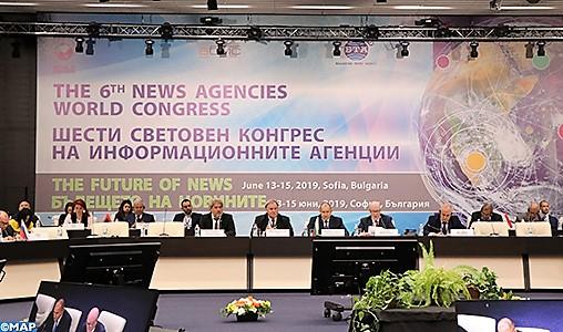Ouverture à Sofia des travaux du sixième Congrès mondial des Agences de presse avec la participation de la MAP