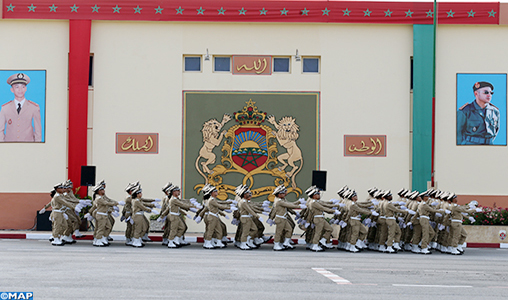 Benslimane: cérémonie de sortie des promotions 2019 de l'École de formation des cadres des Forces auxiliaires