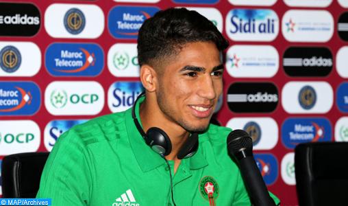 """L'international marocain Achraf Hakimi parmi la """"best squad"""" du 1er tour de la CAN2019"""