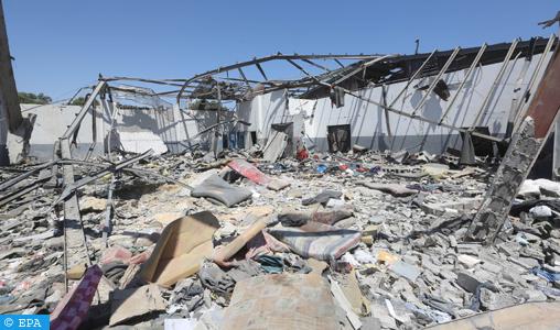 Six Marocains blessés dans le raid aérien contre un centre pour migrants près de Tripoli