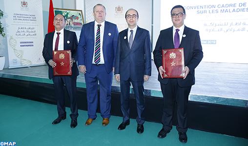 Signature d'un partenariat entre le ministère de la santé et Sanofi-Aventis-Maroc visant une meilleure prise en charge des maladies rares