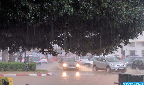 Averses orageuses localement fortes jusqu'à mardi soir dans plusieurs régions du Royaume