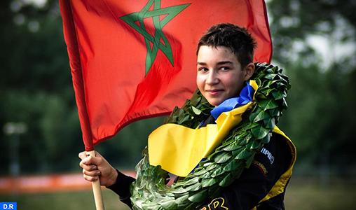 Le Marocain Suleiman Zanfari prend part au championnat du monde FIA karting en Finlande