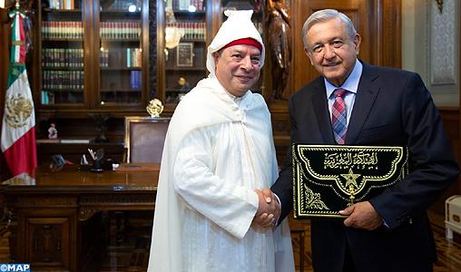 Le nouvel ambassadeur du Maroc au Mexique remet ses lettres de créance au président Lopez Obrador