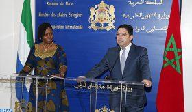 M. Bourita salue la solidarité permanente et la coopération fructueuse entre le Maroc et la Sierra Leone