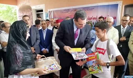 """Marrakech : 166.878 bénéficiaires de l'Initiative Royale """"Un million de cartables"""" au titre de l'actuelle année scolaire"""