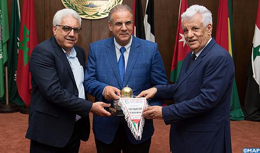Cérémonie à l'Agence Bayt Mal Alqods Acharif en l'honneur du club Hilal Al-Quds