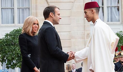 SAR le Prince Héritier Moulay El Hassan prend part au déjeuner offert par M. Macron en l'honneur des chefs d'Etat et de Gouvernement présents aux obsèques de M. Chirac