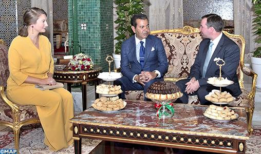 SAR le Prince Moulay Rachid reçoit le Grand-Duc héritier de Luxembourg et son épouse