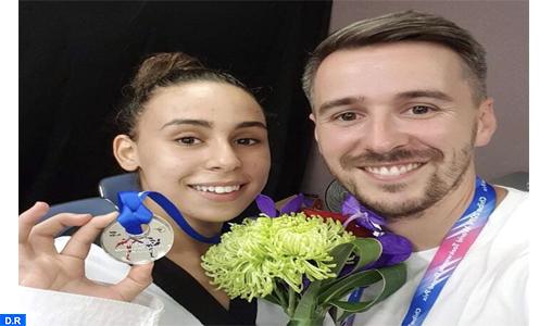 Grand Prix du Taekwondo (Japon 2019): La Marocaine Nada Laarej remporte la médaille d'argent dans la catégorie -57kg