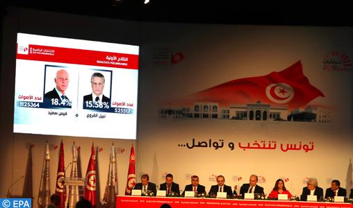 Kais Saied et Nabil Karoui, au second tour de la présidentielle anticipée en Tunisie