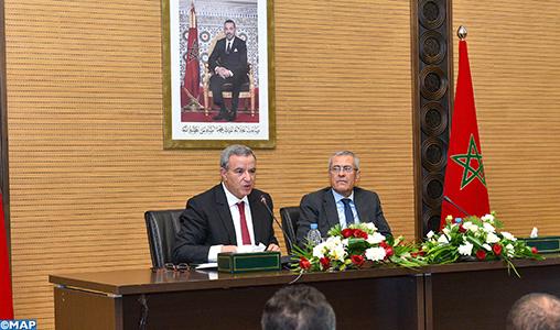 Passation des pouvoirs entre Mohamed Aujjar et Mohamed Benabdelkader, nouveau ministre de la Justice