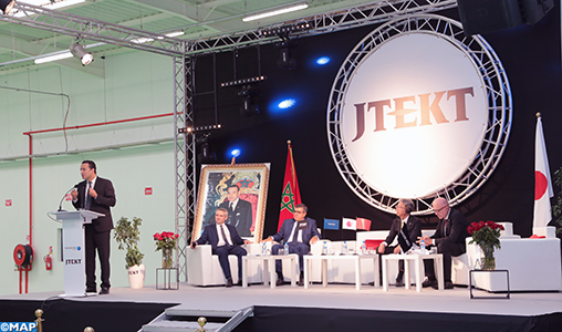 Inauguration de JTEKT,avec un investissement de 220 millions de dirhams