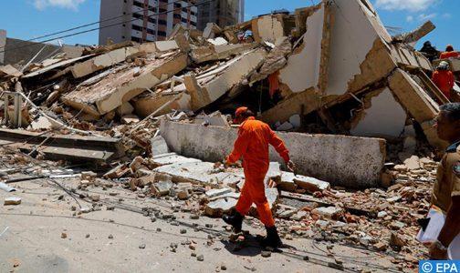 Effondrement d'un immeuble au Brésil : Nouveau bilan