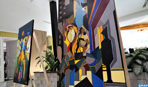 """Vernissage de """"C'était en 2040"""", une exposition de Moulay Tayeb El Alaoui et sa fille Ikram El Alaoui"""