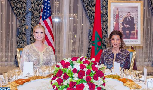 SM le Roi offre à Rabat un dîner en l'honneur de Mme Ivanka Trump, présidé par SAR la Princesse Lalla Meryem