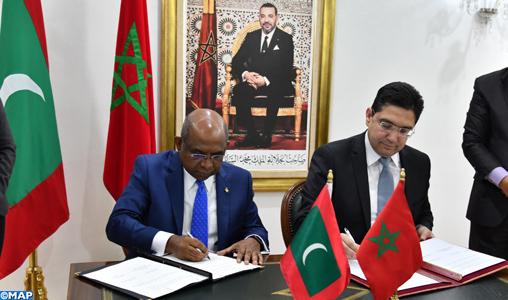 Le Maroc et les Maldives signent 4 accords de coopération bilatérale