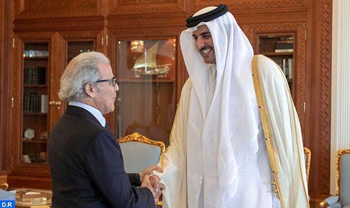 L'émir de Qatar reçoit Wali Bank Al-Maghrib