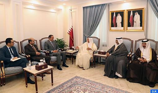 Doha: Une délégation parlementaire marocaine s'entretient avec le président du Conseil consultatif qatari