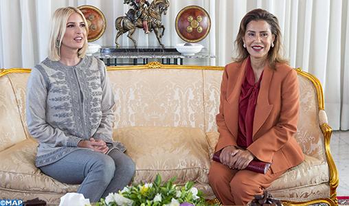 Arrivée au Maroc d'Ivanka Trump, conseillère du président américain