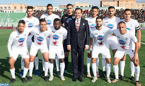 SAR le Prince Moulay Rachid préside à Oujda la finale de la Coupe du Trône de football (2018-2019) opposant le TAS de Casablanca au Hassania d'Agadir