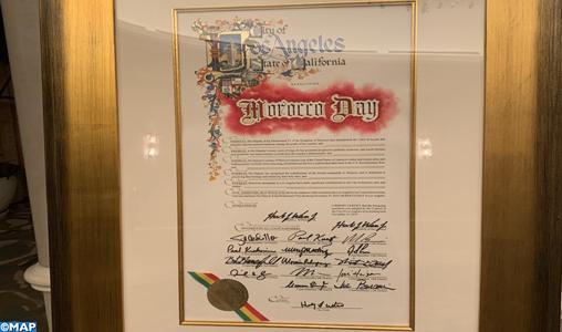 """Proclamation du 19 novembre """"Journée du Maroc à Los Angeles"""" en reconnaissance de l'engagement Royal pour la tolérance et la paix"""