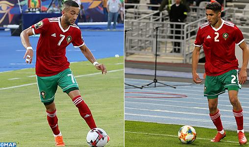 Hakimi et Ziyech dans l'équipe type des Africains de l'année (FF)