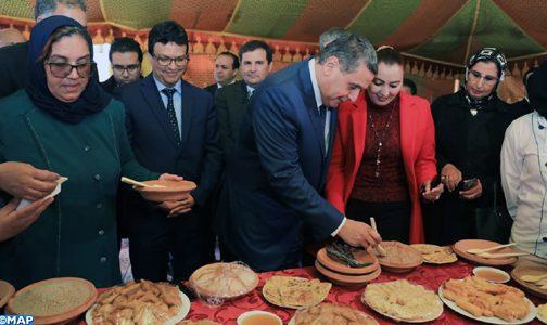 M. Akhannouch visite à Rhamna une coopérative innovante de production de couscous