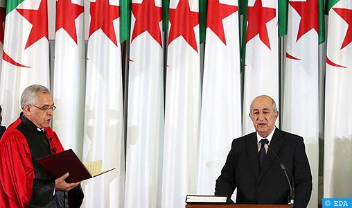 Le président algérien élu, Abdelmadjid Tebboune, prête serment