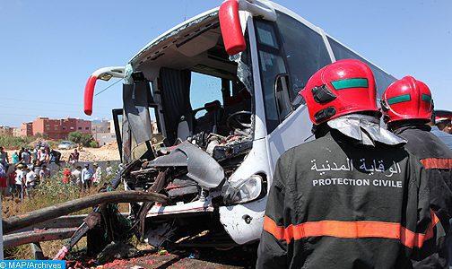 Accident près de Taza: le bilan s'élève à 17 morts et 35 blessés