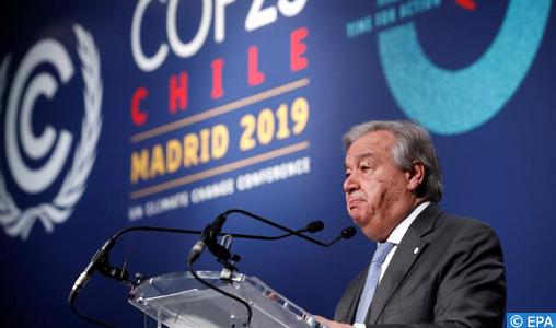 """Climat : le SG de l'ONU se déclare """"déçu"""" des résultats de la COP25"""