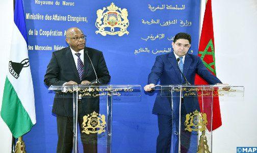 """Le Maroc et le Lesotho conviennent d'ouvrir """"prochainement"""" des ambassades respectives pour renforcer leur coopération bilatérale"""