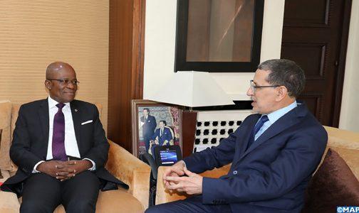 Le chef de gouvernement s'entretient avec le président de l'Assemblée nationale du Gabon