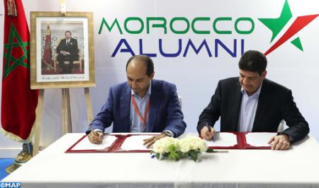 """Signature d'un accord de partenariat entre MASEN et la plateforme numérique """"Morocco-Alumni"""""""