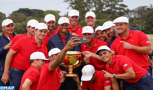 Golf: Tiger Woods en remontée spectaculaire pour remporter la Presidents Cup
