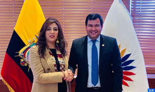 Examen à Quito des moyens de renforcer la coopération parlementaire entre le Maroc et l'Équateur