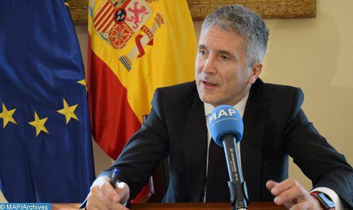 M. Grande-Marlaska souligne la baisse de 50% de l'immigration irrégulière en 2019, grâce à la coopération avec le Maroc
