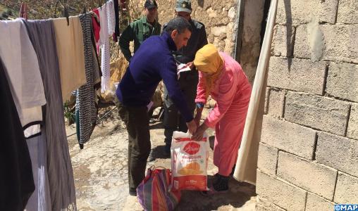 Covid- 19 : Distribution d'aides alimentaires au profit des familles à faible revenu dans la région Béni Mellal- Khénifra