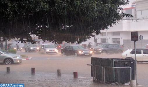 Averses orageuses localement fortes samedi dans plusieurs provinces du Royaume (bulletin spécial)